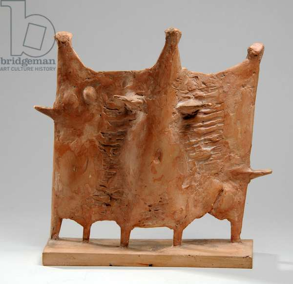 Maquette for Standing Group, 1951 (pink plaster) (see also 876190-1)