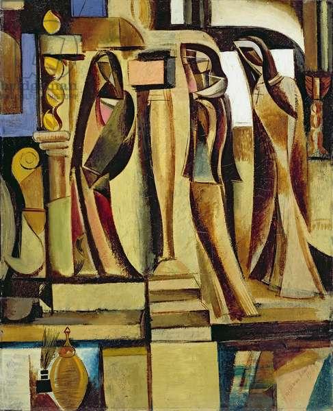 Three Veiled Figures, 1933 (oil on canvas)