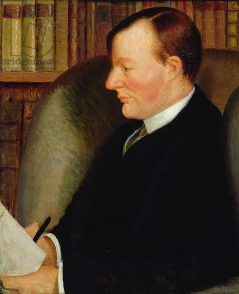 Portrait of Thomas Edmund Harvey (1875-1955) (oil on canvas)