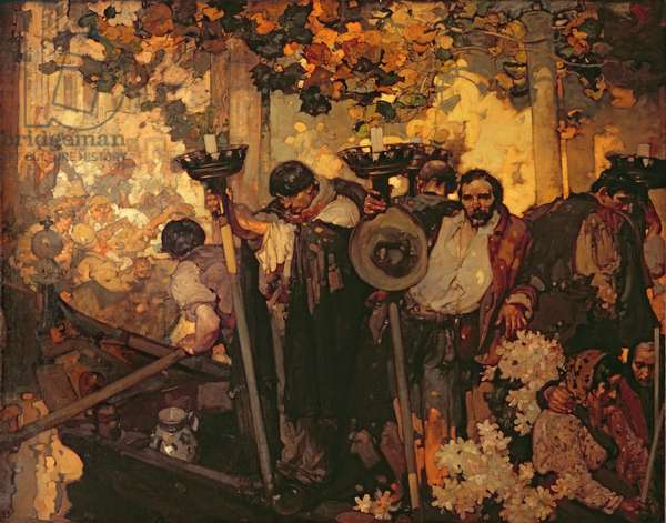 A Venetian Funeral, 1906 (oil on canvas)