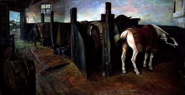 The Bebington Stable, 1935 (oil on canvas)