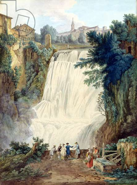 The Falls at Tivoli, 1770 (w/c and gouache on paper)