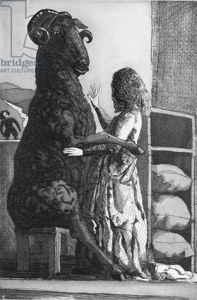 Ba Ba Black Sheep, 1989 (etching with aquatint)