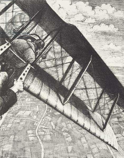 Banking at 4000 feet, c. 1918 (litho)