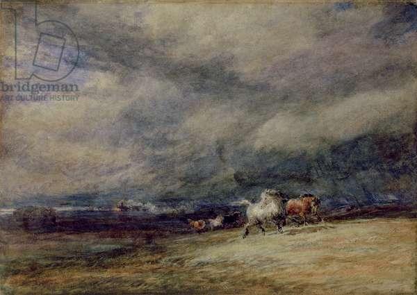 The Night Train, 1849 (w/c on paper)