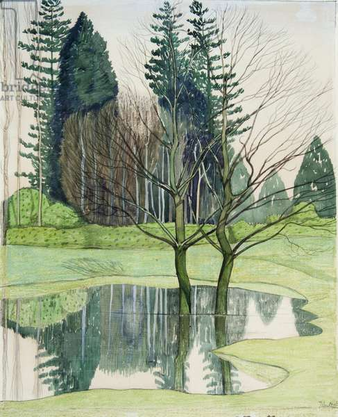 Trees in a Flood, c.1913 (w/c on paper)