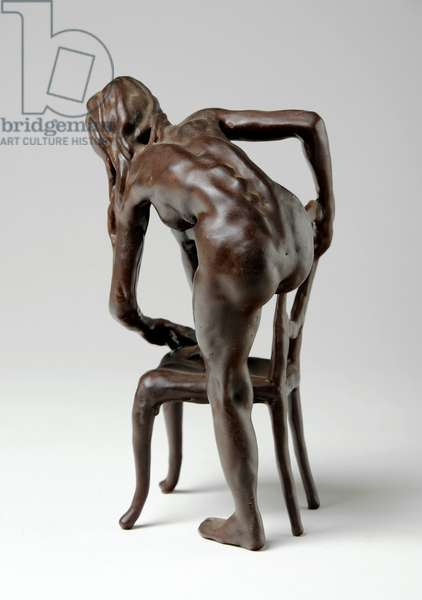 Woman with Chair, c.1976 (wax)