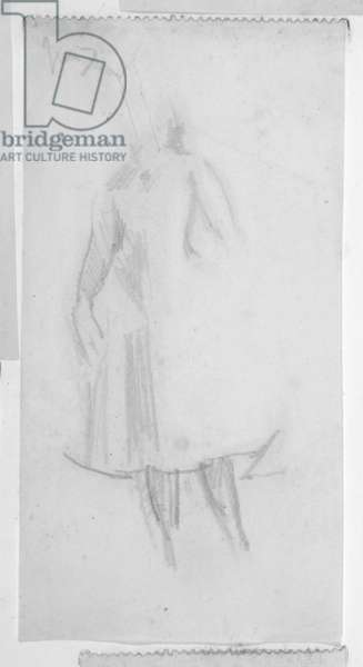 Sketch of a female figure, 1888 (pencil on paper)