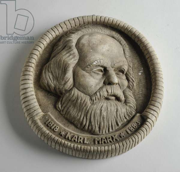 Medallion of Karl Marx, c.1945 (coloured concrete)