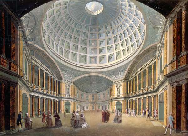 Interior of the Pantheon, Oxford Road, London (oil on canvas)