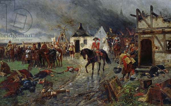 Wallenstein: A Scene of the Thirty Years War (oil on canvas)