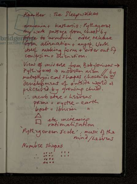 Page from the 'Ego Geometria Sum Diary', c.1981-83 (red ink on paper)