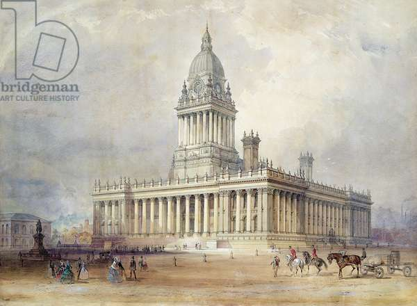 Design for Leeds Town Hall, 1854 (w/c on paper)