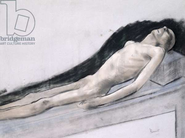 Study for 'Clay' (pastel & chalk on paper)