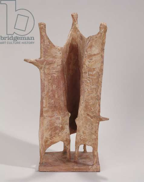 Maquette for Standing Group Two (pink plaster)