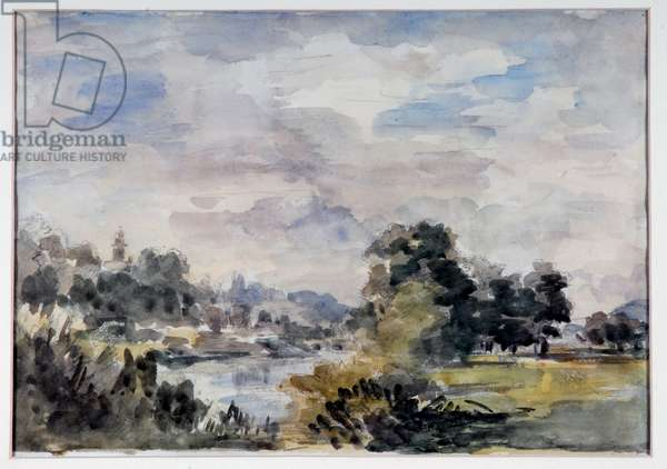 View near Bridgnorth, c.1925 (w/c on paper)