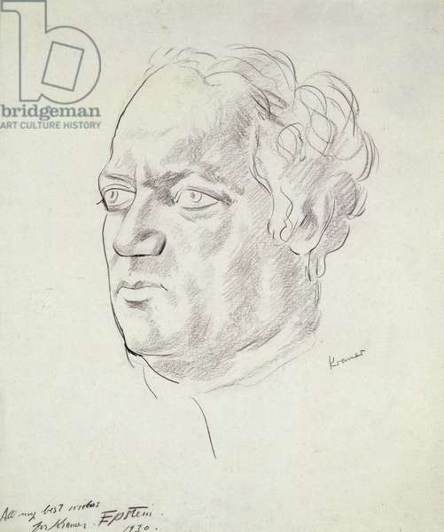 Portrait of Jacob Epstein (1880-1959) 1930 (litho)