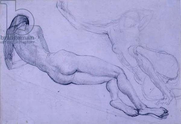 Study of Nan Condron Reclining (pencil on paper)