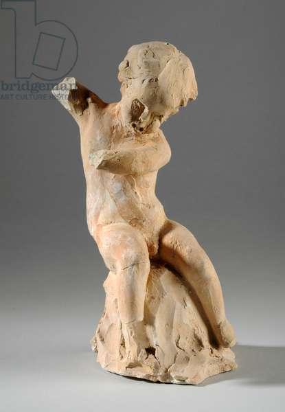Maquette for a Cherub (clay)