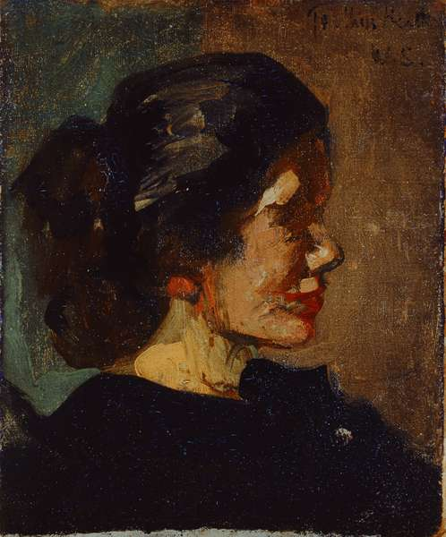 Portrait of Ellen Heath (oil on canvas)