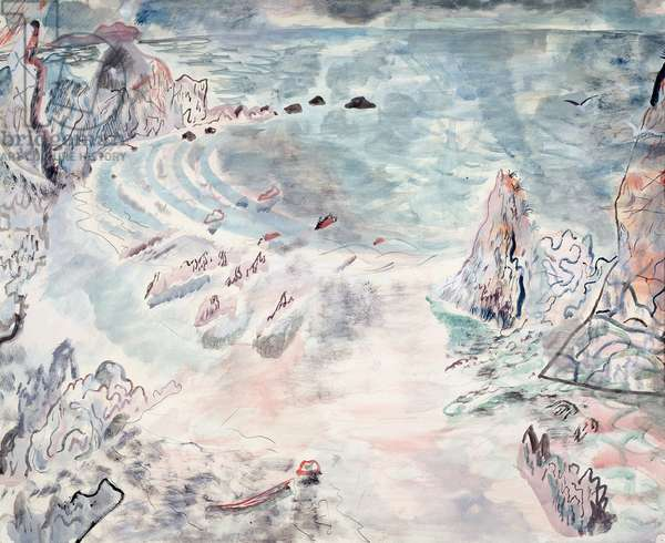 The Open Bay, 1931 (w/c and gouache on paper)