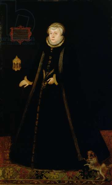 Portrait of Lady Margaret Douglas (1515-78) Countess of Lennox, after Daniel Mytens the elder (c.1590-c.1648) (oil on canvas)