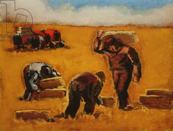 Work in the Field (oil on canvas)