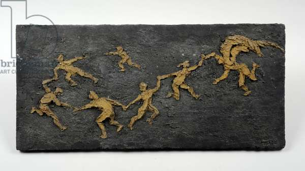 Maquette for a Wall Relief at St. Michael's Primary School, Coventry: St. Michael Playing with Children, c.1959 (coloured concrete)