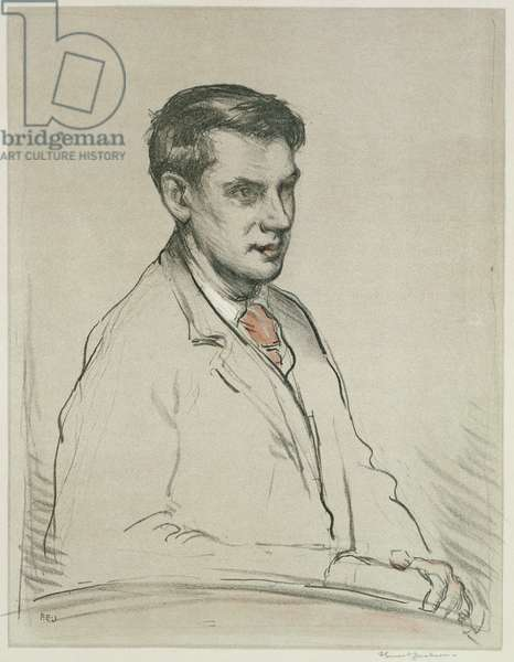Portrait of Alfred Orage (pencil and w/c on paper)