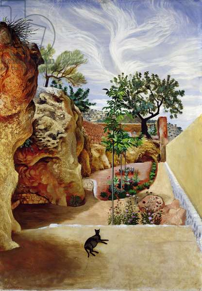 A Garden, Mallorca (oil on board)