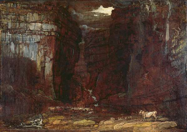 Study for 'Gordale Scar', c.1811-13 (oil on canvas)