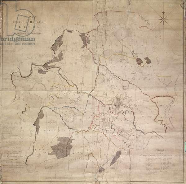 Map of the Parish or Borough of Leeds, 1781 (engraving)