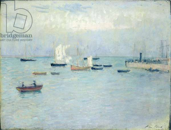 Poole Harbour, 1890 (oil on canvas)