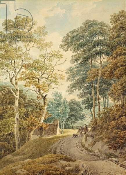 A Lane near Hindhead (w/c on paper)