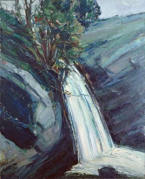 Waterfall, Malham (oil on canvas)