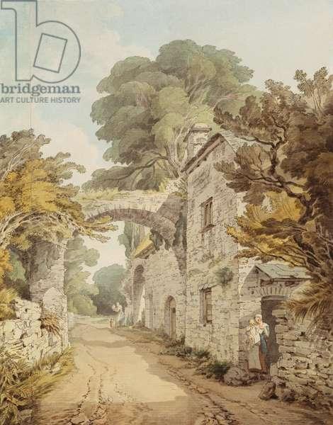 Buckfast Abbey, 1798 (pen & ink and w/c on paper)