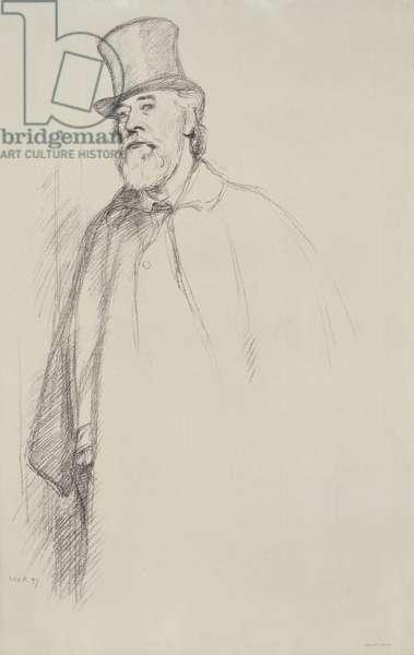 Portrait of Professor Alphonse Legros (1837-1911) 1897 (litho)