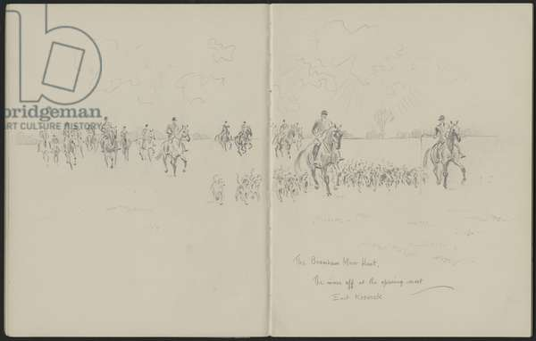 The Bramham Moor Hunt, c.1956 (pencil on paper)