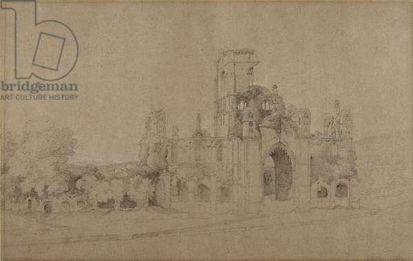 Kirkstall Abbey, 1801 (pencil on paper)