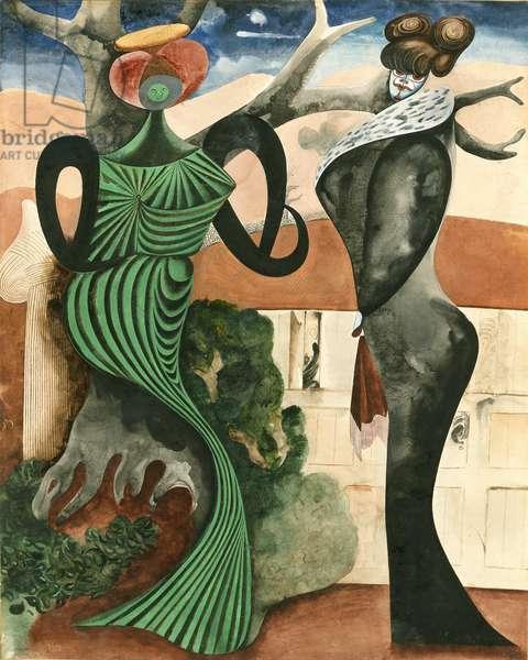 Hostesses, 1932 (gouache on paper)