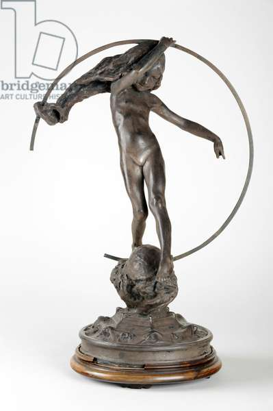 Girl with a Hoop, c.1903-13 (silvered bronze) (see also 440204 & 440206)