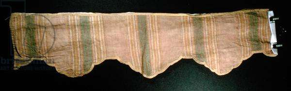 Silk and linen furnishing, late 18th century (tabby weave)