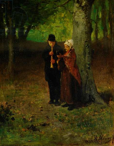 Wandering Musicians (oil on wood)