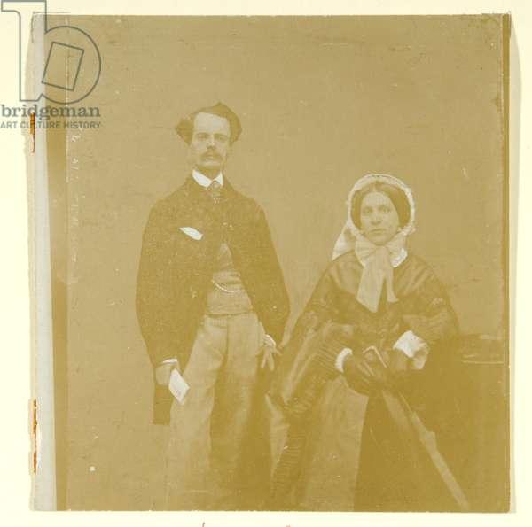 John Atkinson Grimshaw and Theodosia Grimshaw (b/w photo)