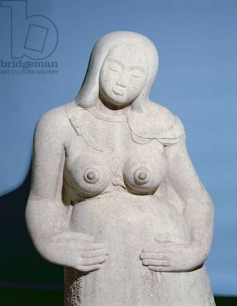 Maternity, detail, 1910 (stone) (detail of 108845)