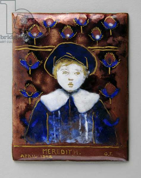 Enamel plaque with 'Meredith', 1898 (enamel)