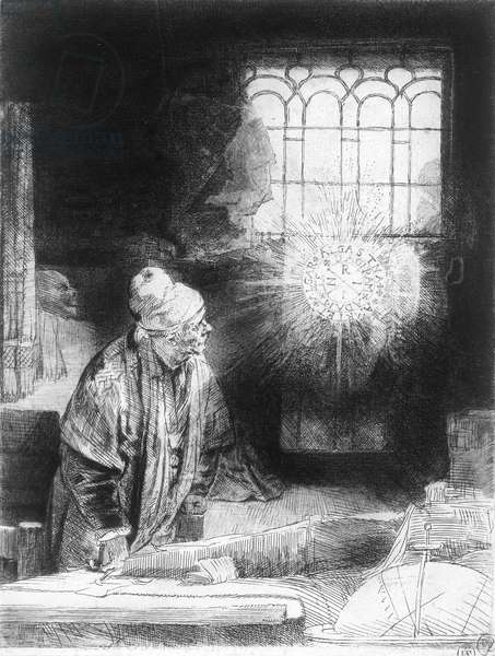 Dr Faustus in his Study (engraving)