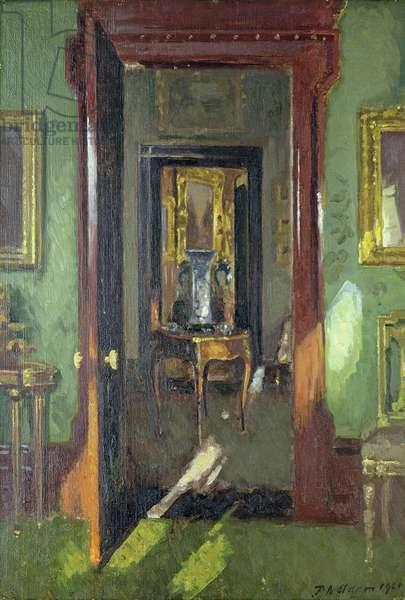 Interior, Rutland Lodge: vista through open doors, 1920 (oil on canvas)