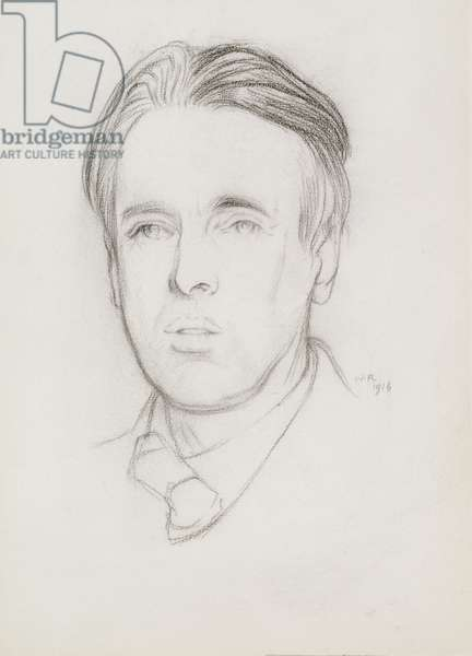 Portrait of W. B. Yeats (1865-1939) 1916 (pencil on paper)