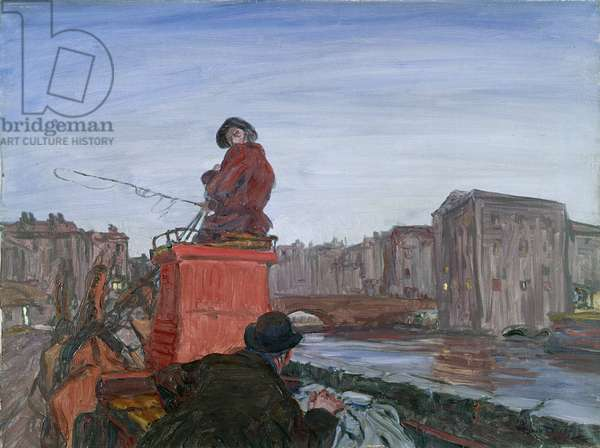 A Lift on the Long Car, 1914 (oil on canvas)